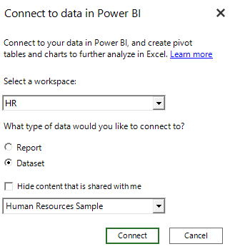 how to enable excel pro s to use power bi datasets microsoft power